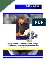 AKELYS - Programme 12-3 Prise de Masse