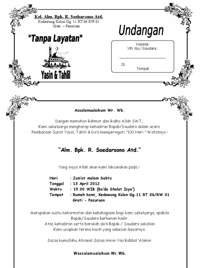 Undangan Tahlil
