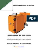 Caldera de Combustibles Solidos Triturados Eurotec Mcsi 18-100