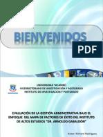 Evaluación de Gestión Administrativa bajo el Enfoque del Mapa de Factores de Exito