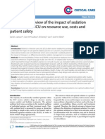 A Systematic Review of the Impacto of Sedation Practice in ICU on Resoursce Use Cost Apatien Safeti