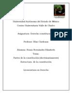 Partes de la  constitución de  forma orgánica y dogmatica