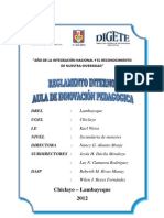 Reglamento Interno Del Aula de Innovacion Pedagogica 2012