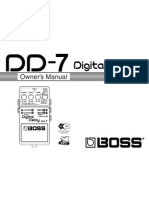 Manual BOSS Digital Delay (DD-7)
