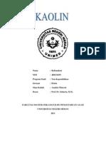 PENGURANGAN KADAR Fe2O3 PADA  KAOLIN DI MANDAILINGNATAL UNTUK MENINGKATKAN KUALITAS KERTAS
