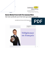 Telephoner en francais @ Language Menu With Barnes Method