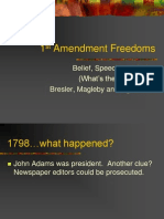 1st Amendment Freedoms Et Al