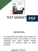 Test Marketing