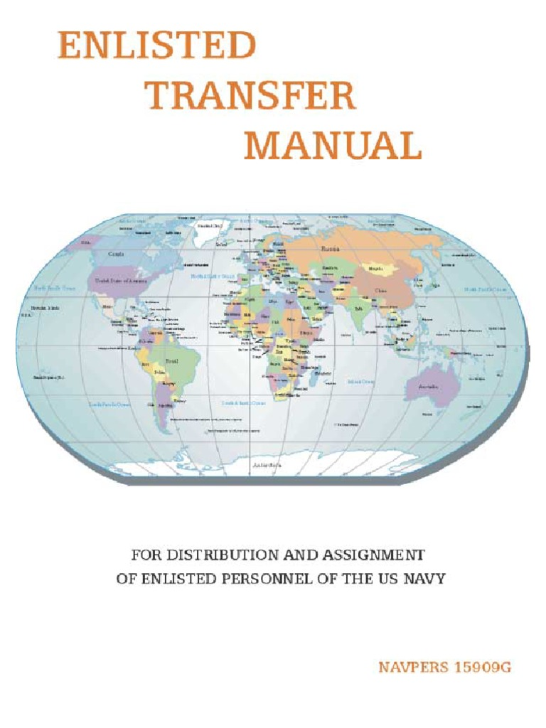 enlisted transfer manual military of the united states military rh es scribd com  navpers 15909 g enlisted transfer manual