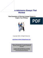 12 College Admission Essays That Worked