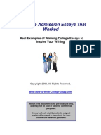 College Essay: How might one exemplify a