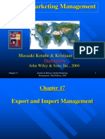 Ch17 Import and Export Management