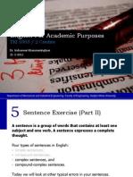 English - 5 Sentence Exercise II
