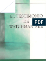 El Testimonio de Watchman Nee