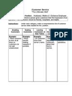 Customer Service Training Book