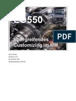 LO550 Uebergreifendes Customizing Im MM