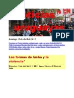 Noticias Uruguayas Domingo 15 de Abril de 2012