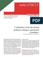 L'utilisation civile des drones - problèmes techniques, opérationnels et juridiques