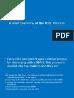 Brief Overview of JDBC Process