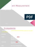 3. Ecosystem Measurement