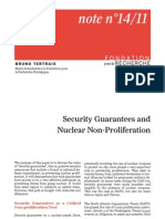 Security Guarantees and Nuclear Non-Proliferation