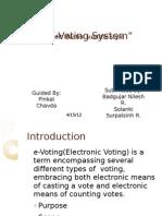 E Voting System