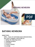 Bathing Newborn