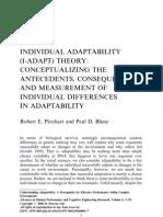 Individual Adaptability