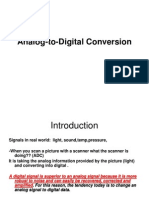 Analog-To-Digital Conversion Btech III