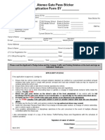 Gatepass Application Form2012