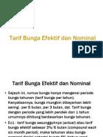 Tarif Bunga Efektif Dan Nominal