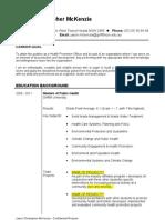 Resume - Health Promotion (WA)