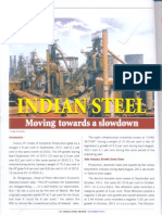 Indian Steel Moving Owards a Slowdown