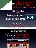 Progettazione Degli Studi Di Registrazione - AES