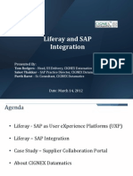 CIGNEX Liferay SAP Integration Slides
