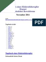 Strahlenfolter - David Otto aus Mühlhausen - 2011 - Tagebuch der Folter