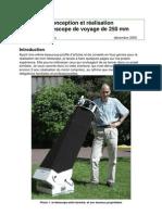 Construire Telescope T250 V2