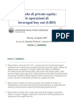 Tecniche di private equity