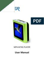 MP4 M74GB Manual