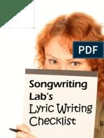 Songwriting Labs - Lyric Writing Checklist