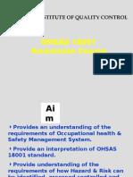 OHSAS 18001 Presentation)