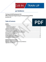 Peace Corps Training Package Guidance - Focus In Train Up - Office of Overseas Training and Support (OPATS)  2011