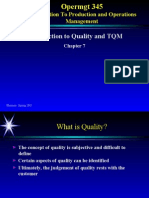 Quality and TQM