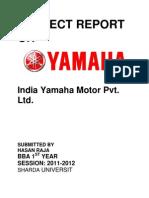 Project Report on Yamaha