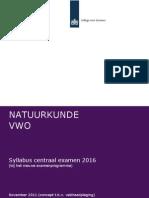 Conceptsyllabus Nieuwe Natuurkunde Vwo 2016 Nov 2011