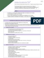 Señales de alerta de Trastorno de Espectro Autista por edad (Guía GPC)