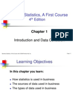 Business Statistics, A First Course 4th Edition Chapter 1