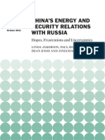 China's Energy and Security Relations With Russia