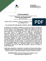 Convocatoria Revista Raíces de Expresión 2012
