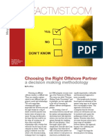 Choosing the Right Offshore Partner